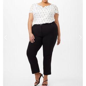 Roz & Ali Black Classic Fit 5 Pocket Pants 20W